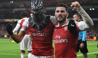 Black Panther Aubameyang Leads Arsenal Into Europa Quarter Final