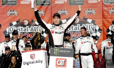 Late Surge Leads to 30th Career Win for Brad Keselowski at Kansas