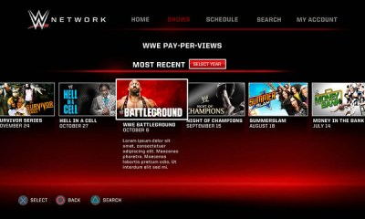 The format of the WWE Network on Playstation