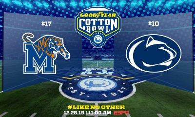 Cotton Bowl Classic Penn State Versus Memphis