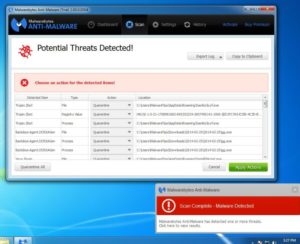 "Step 4.5.4: When the scan has completed, you will now be presented with a screen showing you the malware infections that Malwarebytes' Anti-Malware has detected. To remove the malicious programs that Malwarebytes Anti-malware has found, click on the ""Quarantine All"" button, and then click on the ""Apply Now"" button."