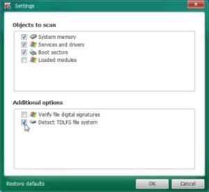 Enable Detect TDLFS File System