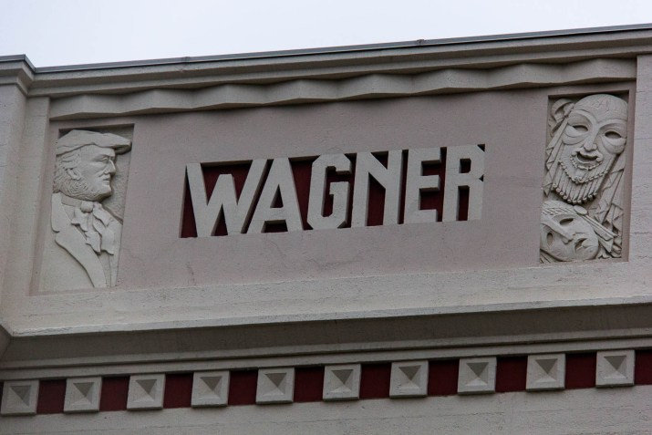 """stone monument with the words """"wagner"""" across it"""