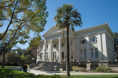 The outside of one of Pomona's academic buildings