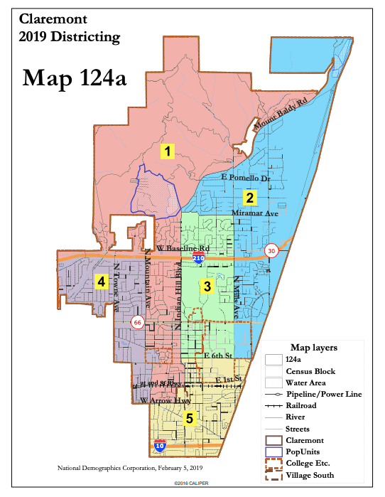 Claremont Colleges Campus Map.Claremont City Council Decision Will Divide 5cs Into Three Voting
