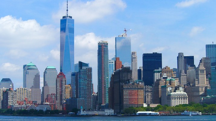 An photograph depicting the skyline of New York City.