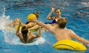 'Everyone has to play your freshman year': Innertube water polo no joke for some Mudders