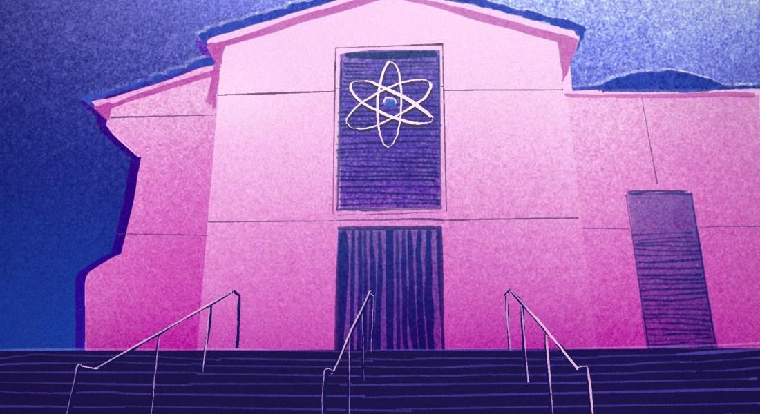 An illustration of Pomona College's renamed Millikan Laboratory building.