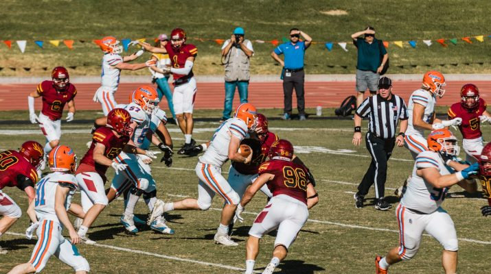 CMS and P-P football players play against each other
