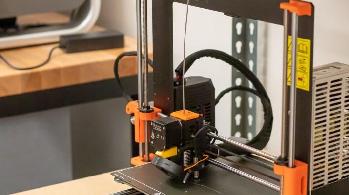 A 3D printer prints an object.