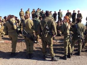 Soldiers at Mount Bental