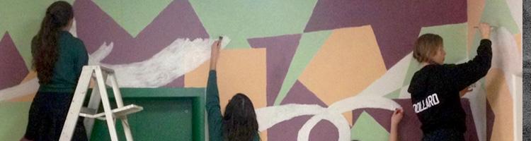 Art Class Painting Mural, Holy Name Hight School, header