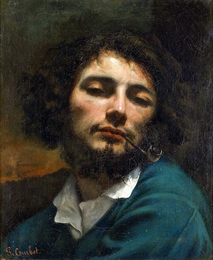 Gustave Courbet - Self-portrait, Man with a pipe