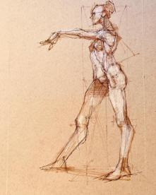 Figure drawing by Michael Mentler
