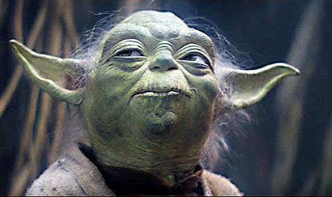 Portrait of Yoda from Star Wars