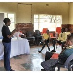 Motlalepula Phakedi (Society Chairperson and Class of 1997 alumnus) presented on careers in Information Technology and Systems. Ms. Phakedi represented Gijima AST.