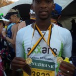 Modisakeng Absalom Moumakwe after the race.