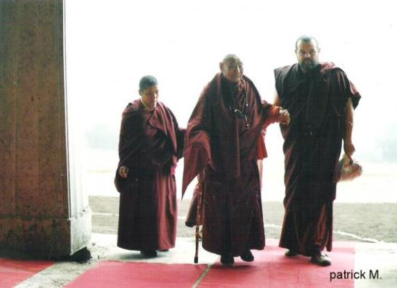 With Gendun Rinpoche. Kundröl Ling, France. 1997