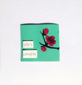 """life's simple"" ring/earing"