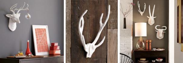 potter's clay deer head