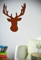 wooden deer head silhouette