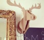 my cardboard reindeer head!