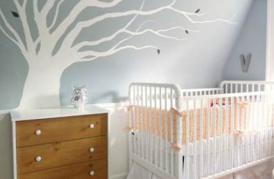 Nursery-with-a-large-tree-decal