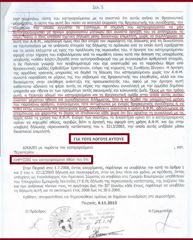 ΑΘΩΩΣΗ ΑΡΝΗΤΗ ΑΜΚΑ-ΑΦΜ ΧΡΙΣΤΙΑΝΟΥ