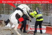 ΤΟ ΟΡΓΑΝΟ ΤΡΕΛΑΘΗΚΕ:  Μαμά… μαμά…!!! Γιατί το άλογο ανέβηκε καβάλα στον μπάτσο???…