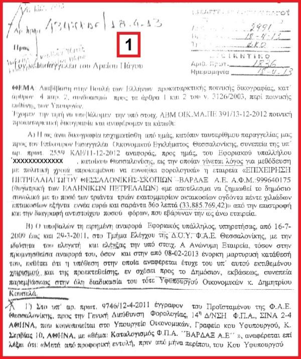ΑΝΑΦΟΡΑ ΠΕΠΟΝΗ Β - 1
