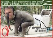 Διαρκώς απασχολημένος ο χοντρός αντισυνταγματολόγος Βενιζέλος, μετά τα μπουγέλα των Χανίων!!!