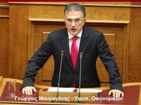 Γεώργιος Μαυραγάνης - Υφυπ. Οικονομικών