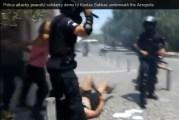 Απίστευτη νεοναζιστική βία ένστολων υπηρετών του σιωνιστικού καθεστώτος, κατά διαδηλωτών στο Θησείο!…