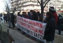 """Οι εργαζόμενοι στα ζαχαροπλαστεία """"Χατζή"""" Θεσσαλονίκης, συνεχίζουν τον αγώνα τους"""