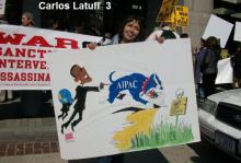 Το εβραϊκό λόμπι AIPAC βλέπει ο Latuff, να σέρνει την Αμερική σε πόλεμο και στο Ιράν.