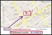 Κώστας 222 — Ένας ΧΑΖΑΚΗΣ «οπαδός» εκπέμπει την ηλιθιότητά του από το ξενοδοχείο Sandra των Αθηνών, για να με βρίζει υπέρ του… Καζάκη!