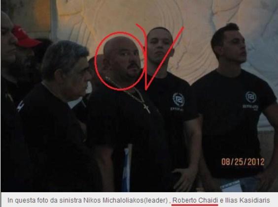 Roberto Chaidi- ανάμεσα σε Μιχαλολιάκο και Κασιδιάρη