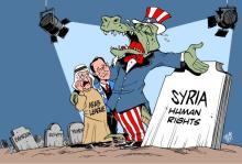 """Τα σκοτωμένα ανθρώπινα δικαιώματα στη Συρία και σε άλλες Αραβικές χώρες και η υποκρισία της αμερικανόδουλης """"Human Rights"""""""