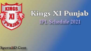 KXIP Match Schedule 2021