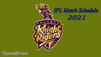 KKR IPL Match Schedule