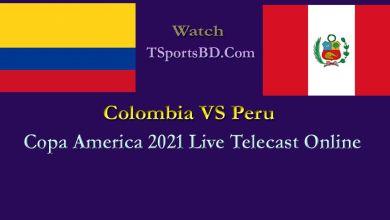 Colombia VS Peru Live