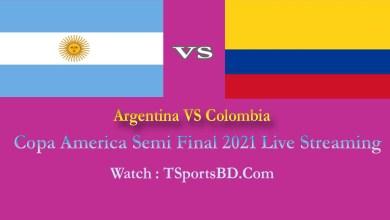Argentina VS Colombia Live 2021