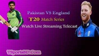 Pakistan vs England t20 Live Telecast
