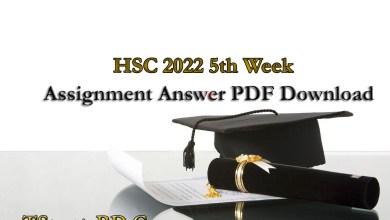 HSC 2022 5th Week Assignment