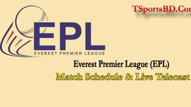 Everest Premier League Schedule & Live