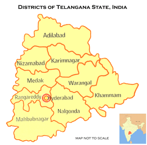 Telangana_MAP with Districts