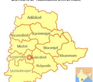 When was Telangana state declared or formed ?