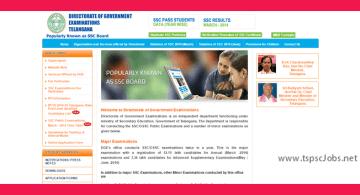 BSE Telangana Website - SSC Board