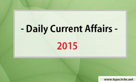 Daily Current Affairs June 1 , June 2 – 2015