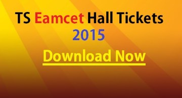 TS Eamcet 2015 Hall tickets -- Download Now from the Webpage